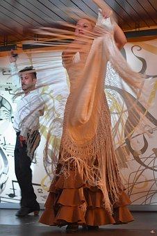 Flamenco, Dancing, Clothing, People, Woman, Spanish