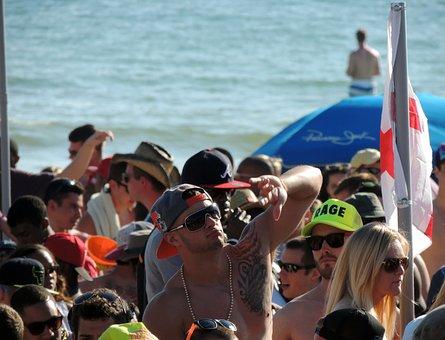 Beach Party, Spring Break, California, Shirtless, Dude