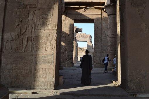 Edfu, Temple, Africa, Nile, Desert, Dunes, Temperature