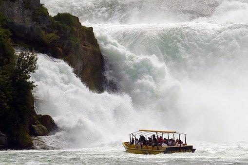 Rhine Falls, Schaffhausen, Excursion Boat, Visit