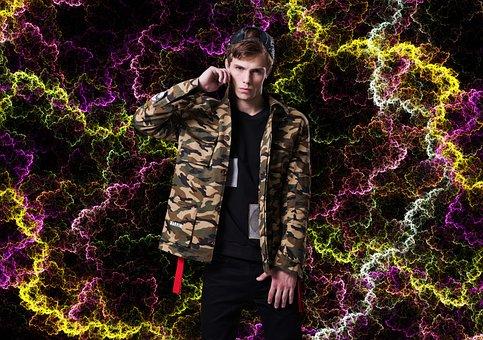 Men's, Tide Brand, Camouflage, Fashion, Style, Model