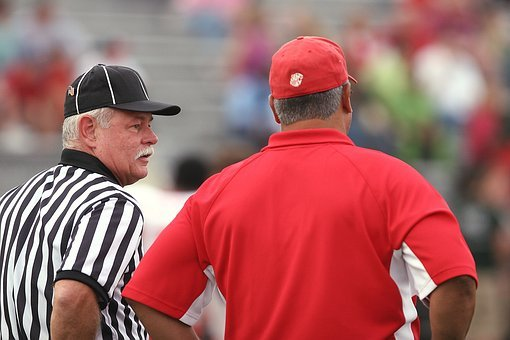 Football, Referee, Coach, Discussion, American, Game