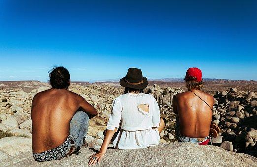 People, Girl, Woman, Guy, Man, Hat, Landscape, Nature