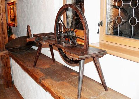 Spinning Wheel, Old Spinning Wheel, Historically, Old