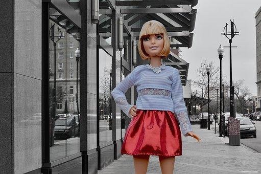 Barbie Doll, Posing, City, Toy, Skirt, Urban, Lifestyle