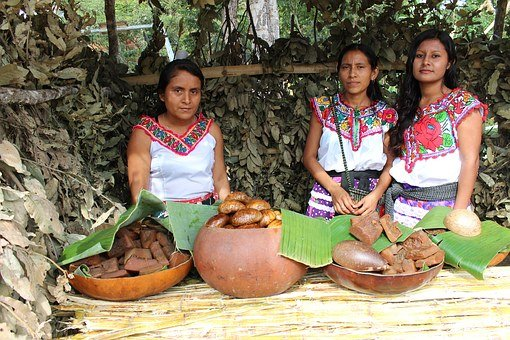Women, Indian, Oaxaca, Traditional Clothes, Indigenous