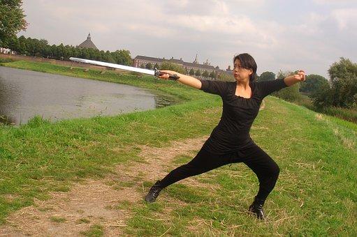 Shaolin Kung Fu, Swordplay, Position, Exercise, Women