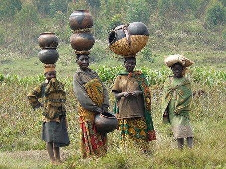 Batwa, Women, Traditional, Pots, Kiganda, Muramvya