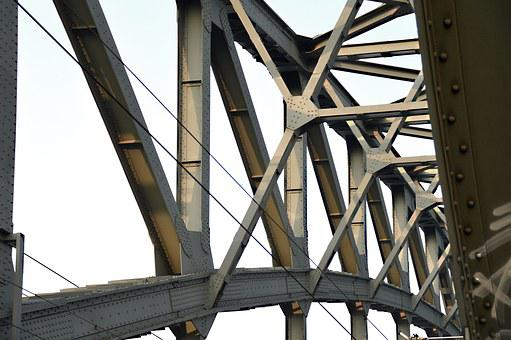 Bridge, Construction, Steel Beams, Rivet, Building