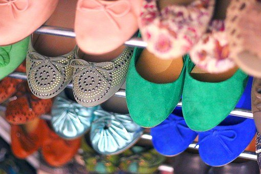 Boot Tick, Shoes, Women's Shoes, Shelf, Ballerina