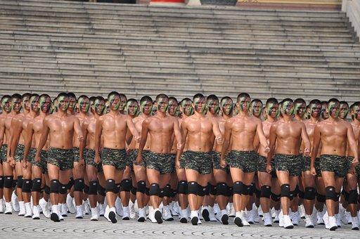Frogman, Soldier, Marines, Taiwan, Guojun, Shirtless