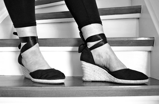 Stairs, Shoes, Women's Shoes, Beach Shoes, Stand