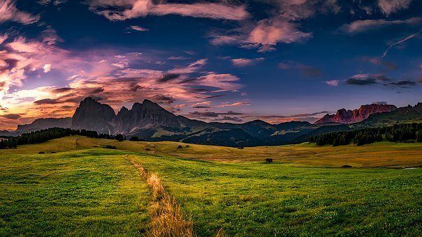 Italy, Landscape, Scenic, Sky, Clouds, Sunset