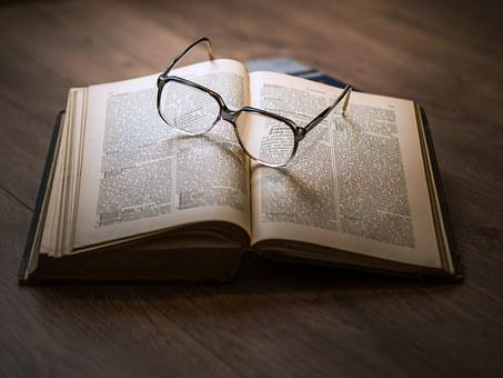 Knowledge, Book, Library, Glasses, Textbook