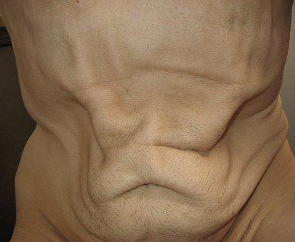 Human, Mager, Stomach, Skin, Body, Thin, Thick, Slim