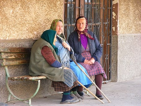 Bulgaria, Village, Women, Peasants, Hiking, Smolsko