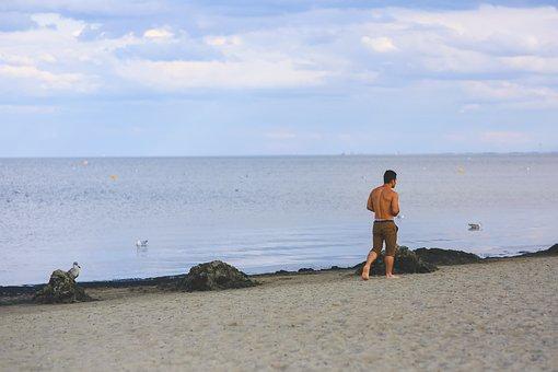 Man, Boy, Guy, People, Human, Walk, Walking, Sand