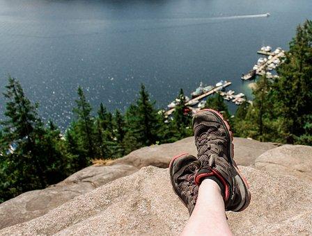 Water, Hiking, Mountain, Peak, Rest, Break, Active