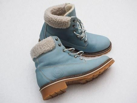 Shoes, Winter Shoes, Winter Boots, Blue, Light Blue