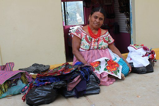 Women, Ingiena, Grandmother, Mexico, Oaxaca