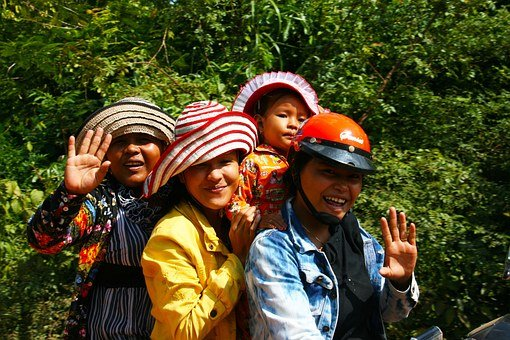 Women, Motorbike Ride, Smiling, Travel, Motorbike