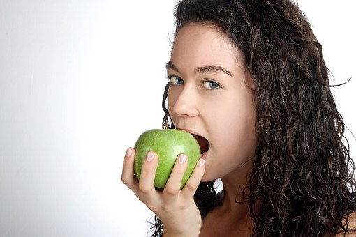 Women, Apple, Young