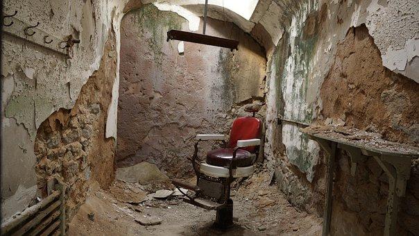 Barber Shop, Chair, Barber, Salon, Male, Prison