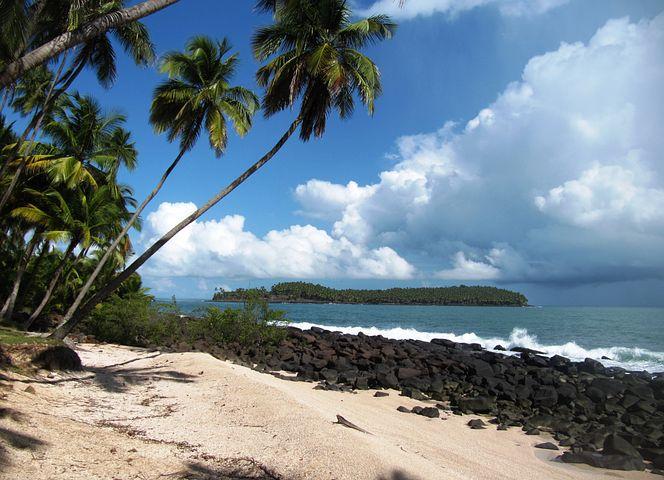 Beach, Islands Of Salvation, Guyana, Landscape