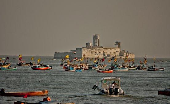 Jail, Sea, Ocean, Prison, Boats, Concrete