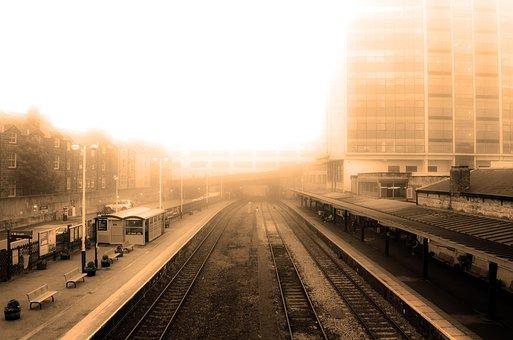 Autumn, Brown, City, Curve, Curvy, Dull, Early, Fog