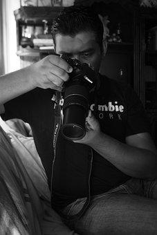 Canon, Photo, Photography, White, Black