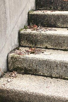 Steps, Concrete, Grey, Dull, Staircase, Stairs