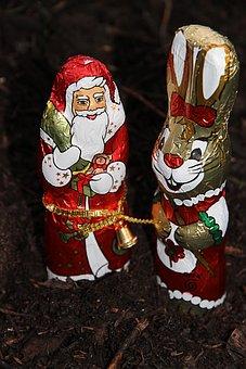 Santa Claus, Nicholas, Christmas, Fig, Chocolate