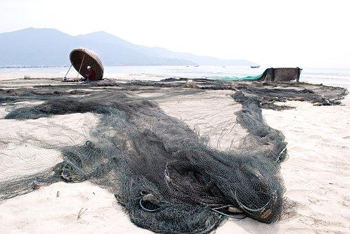 Mending Their Nets, The Fishermen, Fishery, Rope