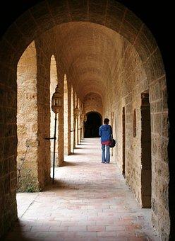 France, Fr, Abbey, Travel, Scenic, Rural, Landmark