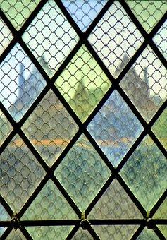 Window, Castle, Glas, Colours, France, Fr, Travel