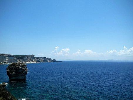 Bonifacio, Corsica, France, Crag, Grain De Sable, Rocks