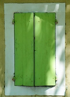 Shutters, Window, Green, France, Fr, Travel, Scenic