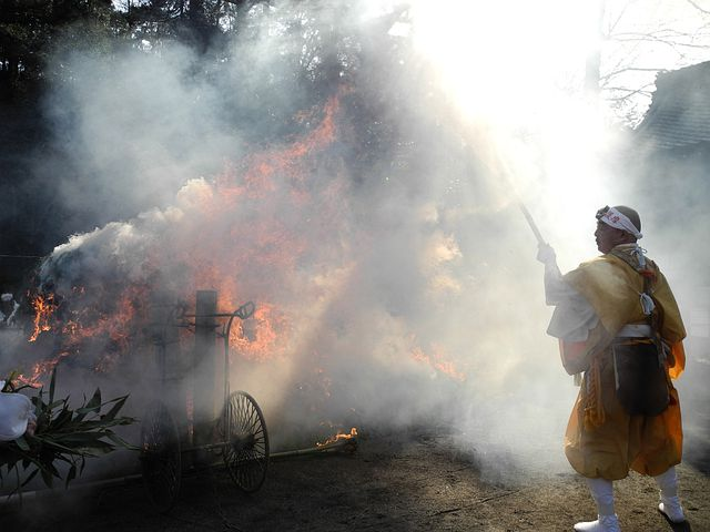 Divine Work, Temple, Gifu, Japan, Fire Fighting