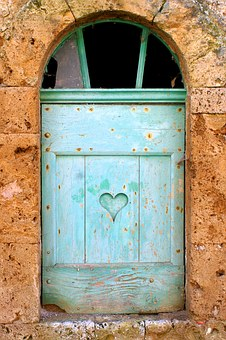 Window, Shutter, Heart, Home, House, Architecture