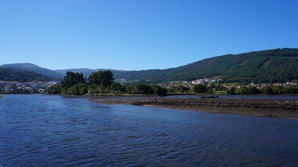 Rias, Galicia, Ocean, Water, Mountains, Green, Islands