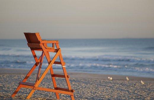 Beach, Life Guard Chair, Ocean, Jacksonville Beach