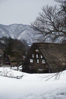 Japan, Building, Gifu, Japanese Style, Travel, Winter