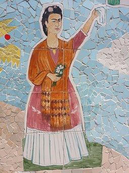 Frida Kahlo, Cuba, José Fuster, Mosaic, Art, Street Art