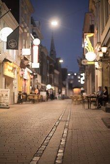 Street, Scene, Light, City, Urban, Night, Nightlife