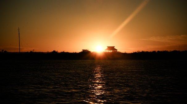 Sunset, Sea, Ocean, Ocher, Mexico, Los Cabos