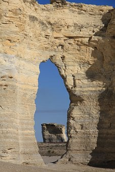 Kansas, Monument Rocks, Formations, Crags, Rocky