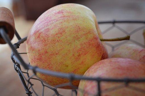 Fruit Basket, Fruit Bowl, Apple, Natural Product, Fruit