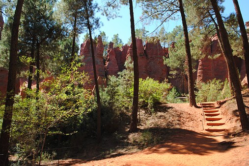 Ocher, Rock, Red Ochre, Roussillon, Nature, France
