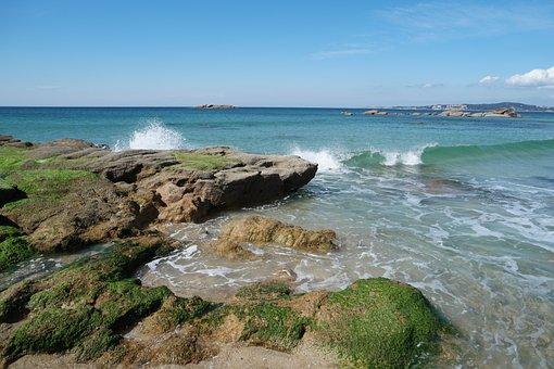 Atlantic, Sea, Ocean, Romantic, Coast, Rock, Wave